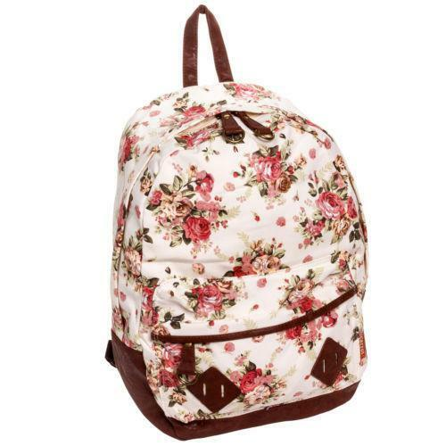 Floral Canvas Backpack | eBay