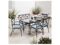 Tesco metal garden table and chairs, new still in boxes