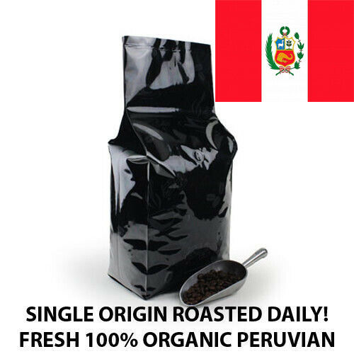 2, 5,10 lb PERU ORGANIC FRESH ROASTED COFFEE WHOLE BEAN, GROUND - ARABICA