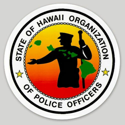4 Inch Non-Reflective State Of Hawaii Organization Police Officers Sticker Decal