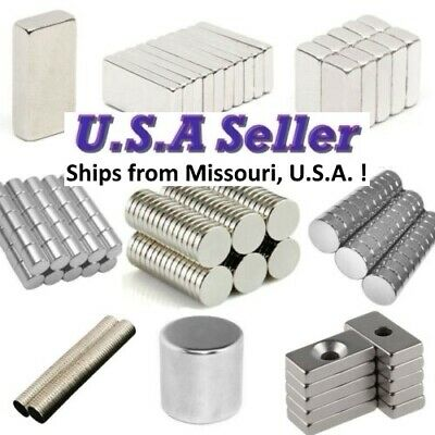 25 50 100 Pcs Round Disc Block Magnets Rare Earth Neodymium N52 N50 N42 All Size