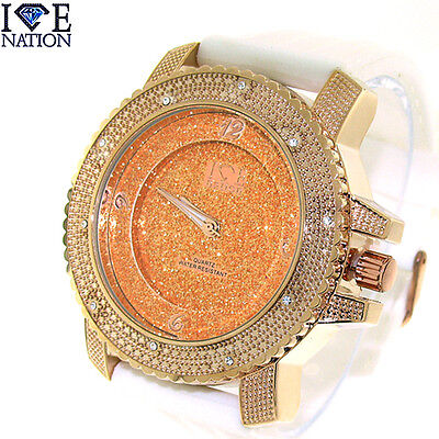 (New Hip Hop Iced Out Swiss Design Watch with Premium Quality Bullet Band W1862)