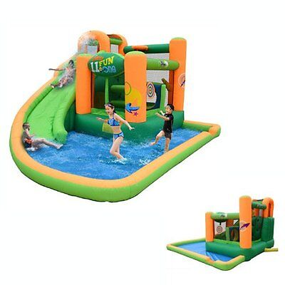 Inflatable Water Slide Bounce House Outdoor Birthday Party Jump Kids Child Play