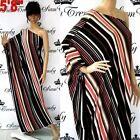 One Shoulder Dresses Stripes
