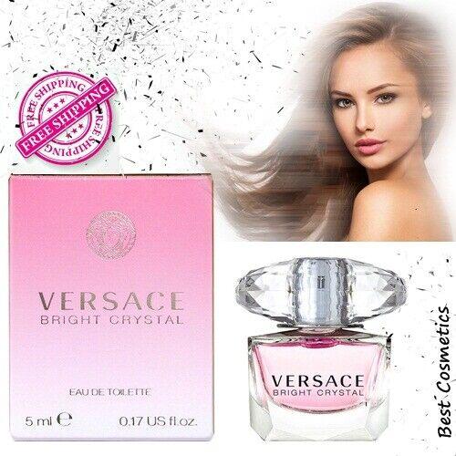 Detalles de Versace Bright Crystal Para mujeres Mini Eau de Toilete Splash Eau de Toilette 5ml .0 .17 OZ ver título original