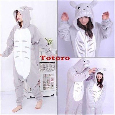 Hot Unisex Adult Kigurumi Pajamas Anime Cosplay Costume Sleepwear - Adult Totoro Costume