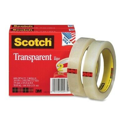 Scotch Transparent Tape 600-2p34-72 34x2592 2-pack