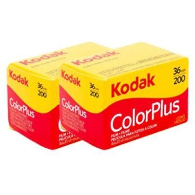 2 x Kodak Colorplus 200 36exp - CHEAP 35mm Print Film