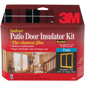 Indoor Patio Door Insulator Kit - New Never Opened