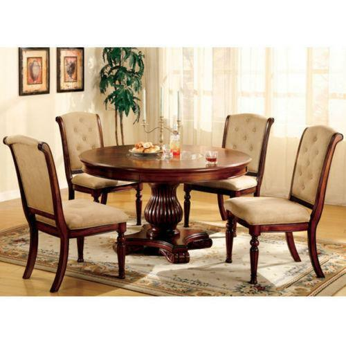Round dining table set ebay for Round dining table set