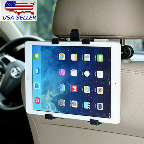 Car Headrest Tablet Holder Back Seat Mount Stand iPad Mini Air Galaxy 360 Rotary