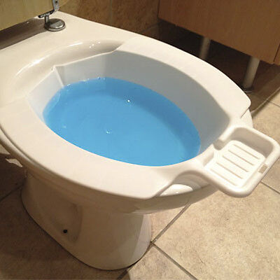 New Portable Travel Toilet Bidet - White Seat / Soap Tray / Discreet - FAST POST