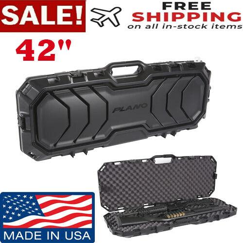 Hard Case Long Rifle Carry Single Gun Storage Box Padded Tactical Hunting NEW