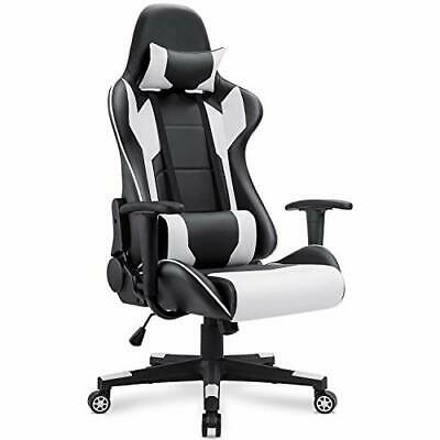 BEST Comfy Racing Style Leather Swivel Gaming Chair w/ Lumbar Support &