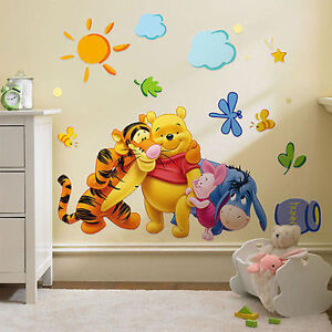 disney winnie l 39 ourson et amis autocollant mural