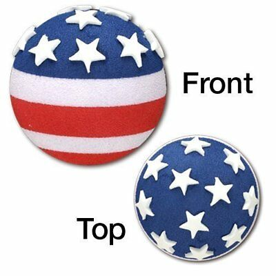 Quantity 2 pcs - Tenna Tops® American USA Flag Car Antenna Topper / Antenna Ball - Antenna Toppers