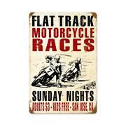 Vintage Motorcycle Metal Signs
