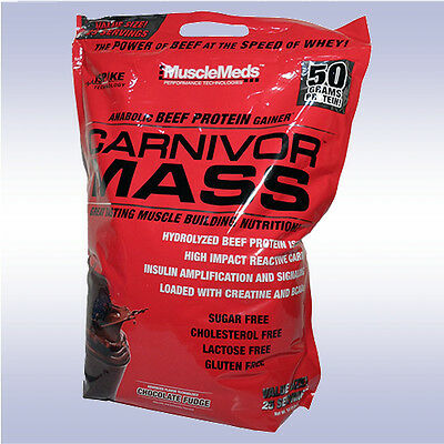 MUSCLEMEDS CARNIVOR MASS (10 LB) beef protein isolate gainer amino bcaa