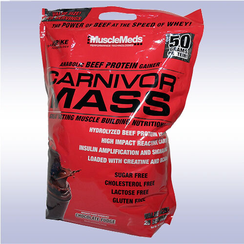 MUSCLEMEDS CARNIVOR MASS  beef protein isolate gainer amino