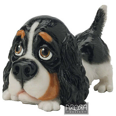 Arora design Little Paws Cavalier King Charles Spaniel Figurine  Gift box