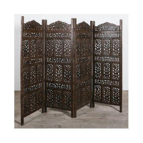 Carved wooden screen ebay