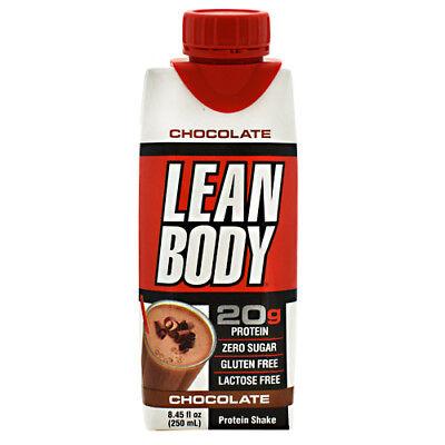 (Labrada Nutrition Lean Body RTD -Chocolate -16-4-Cartons (8.45 fl oz)-NEW-SEALED)