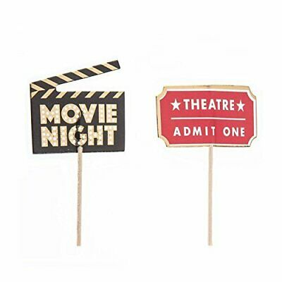 Movie Night Cupcake Toppers Table Decoration Party Supplies Special Events 24 Ct - Movie Night Party Supplies
