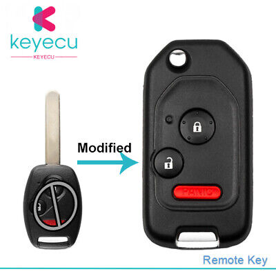 2 Buttons Folding Remote Flip Key Shell Case Cover for Honda Accord Civic