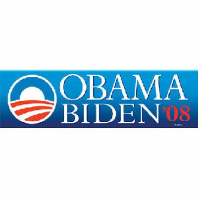 Barack Obama Joe Biden President 2008 Bumper Sticker Historical