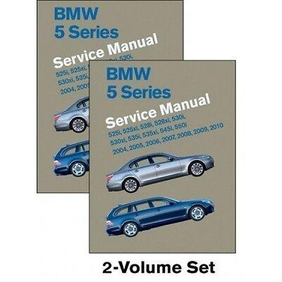 BMW 5 Series Service Manual 2004-2010 (E60, E61) New 2 Volume Set book paper