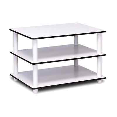 تربيزه جديد MODERN WHITE COFFEE TABLE SMALL WOOD END STORAGE STAND LIVING ROOM FURNITURE
