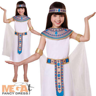 Ancient Egypt Costumes For Girls (Egyptian Queen Girls Fancy Dress Cleopatra Ancient Egypt Kids Book Day Costume)