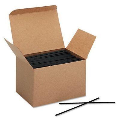 100Pcs 4'Black Plastic Mini Cocktail Straws For Celebration Drink Party Supplies - Black Straws