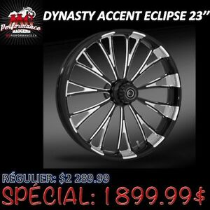 "23"" ROUE AVANT DYNASTY ACCENT ECLIPSE HARLEY DAVIDSON"