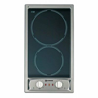 "Verona VEECT110VFSS 12"" Smoothtop Electric 2 Burner Cooktop 110 Volt"