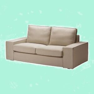 ikea kivik loveseat sofa cover new dansbo beige 2 seat