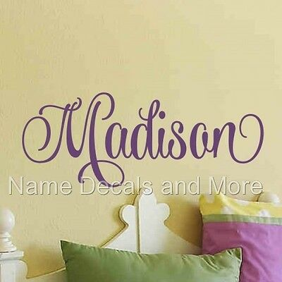 Girls Sticker Decals Personalized Name Vinyl Wall Decal Nursery Bedroom Decor