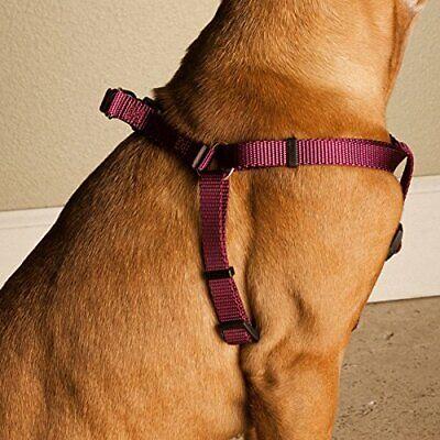 *NEW* 15in -25in Step In Harness Burgundy, Lrg 40 - 120 lbs Dog Free Shipping 7B (Burgundy Nylon Dog Harness)