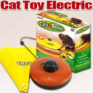 AU Electronic Interactive Cats Cat's Meow Toys Undercover Fabric Moving Mouse