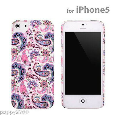 New PopnGo Hard Cover Case Slider slim High Gloss - Paisley for iPhone 5 Hard Case Slider
