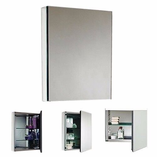 Mirror Bathroom cabinet / Cosmetics/ Medicine cabinet,  1 door & 2 shelves, ref KGMRCAB1D