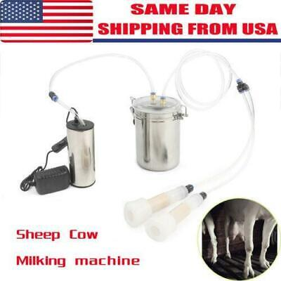 2l Portable Vacuum Pump Electric Milking Machine For Farm Cow Sheep Goat