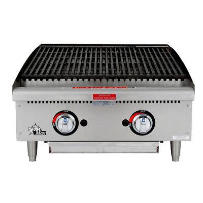 Gas Charbroiler - Lava Rock Grill 24w 80000 Btu