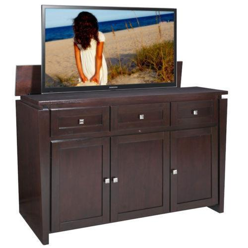 tv lift cabinet ebay. Black Bedroom Furniture Sets. Home Design Ideas