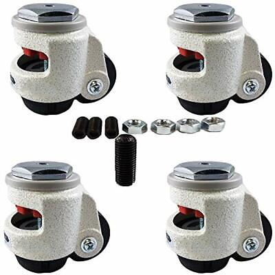 Casterhq Wheel Master - Retractable Leveling Machine Stem Casters - 4 Pack - 24