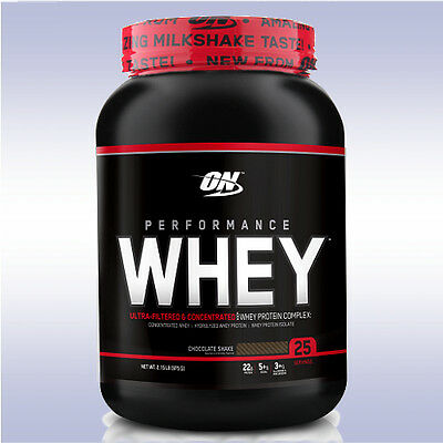 Optimum Nutrition Performance Whey  2 Lb  100  Protein Standard Isolates On Gold