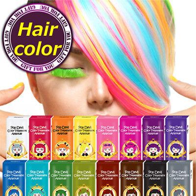 Moeta Pop Devil  Lemon Yellow Hair color Dye treatment ampoules Zero Damage