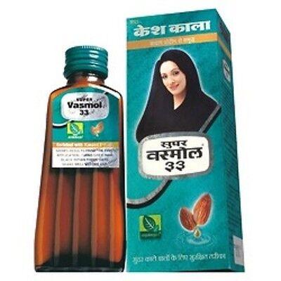 Super Vasmol 33 Kesh Kala 50 Ml With Almond Protein   Neem Extract Hair Health