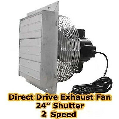 Exhaust Fan - 24 Shutter - 2 Speed - Direct Drive - 5900 Cfm - Industrial