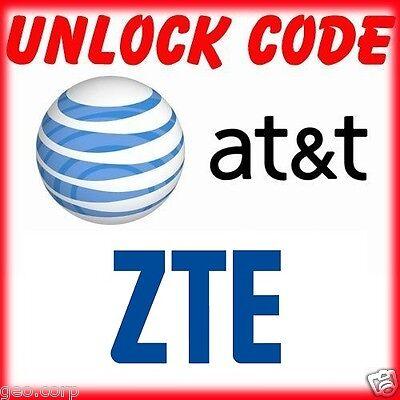 Unlock Code ZTE Maven Z812 Z831 Compel Z830 ZMAX 2 Z958 Z998 Z992 Z740 AT&T ATT